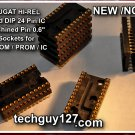 "AUGAT GOLD 24 Machined PIN IC SOCKET New/NOS HI-REL 0.6"" For EPROM PROM"