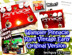 Wampler PINNACLE Overdrive Distortion - with Lead Solo Boost &amp; bRoWn sOUND