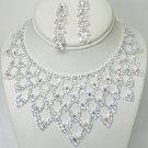 PAGEANT RHINESTONE NECKLACE SET NKR626