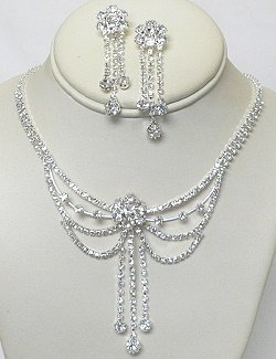 RHINESTONE JEWELRY SET: SWAG DESIGN NKR687