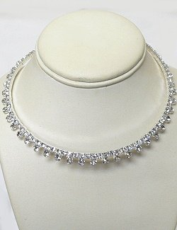 RHINESTONE CHOKER ON MEMORY WIRE NKR678