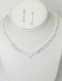 BRIDAL RHINESTONE JEWELRY SET NKR659