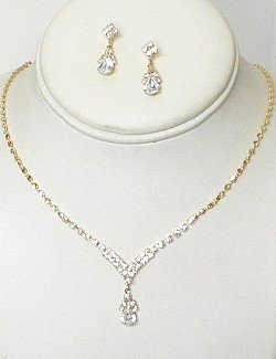 RHINESTONE BRIDAL JEWELRY SET  NKR650