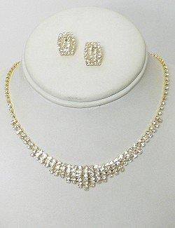 GOLD PLATED CLASSIC RHINESTONE SET NKR615