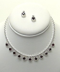 DANGLING CLEAR RHINESTONE SET NKR429