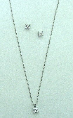 CUBIC ZIRCONIA NECKLACE SET NKR227