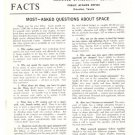 Vintage NASA Facts Most Asked Questions About Space