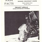 Vintage NASA Facts Project Apollo Manned Exploration