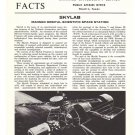 Vintage NASA Facts Future Skylab Project