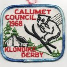 Vintage 1968 Calumet Council Klondike Derby Patch