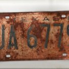 Single 1961 Texas License Plate UA 6779