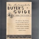 1934 Automobile Buyers Guide General Motors