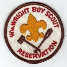Vintage Wm Wright Reservation Boy Scouts Patch