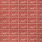 1945 46 Louisiana 100lb Feed Inspection Tax Stamp Sheet