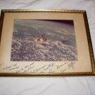 Skylab Apollo Autographed NASA Litho Stafford Evans