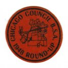 Vintage 1948 Chicago Council Roundup Felt Patch