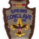 Vintage 1966 Shawnee Lodge Spring Conclave Patch WWW