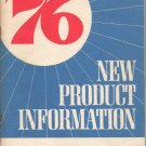 1976 New Product Information Manual Chevrolet Corvette