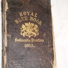 Royal Blue Book Fashionable Directory 1865