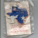 1982 Texas Delegate Atlanta Convention Lions Club Pin