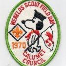 Vintage 1970 Webelos Scout Field Day Calumet Patch BSA