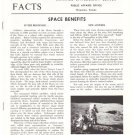 Vintage NASA Facts Space Benefits
