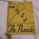 June 1953 Parade Pershing High Detroit Michigan YB