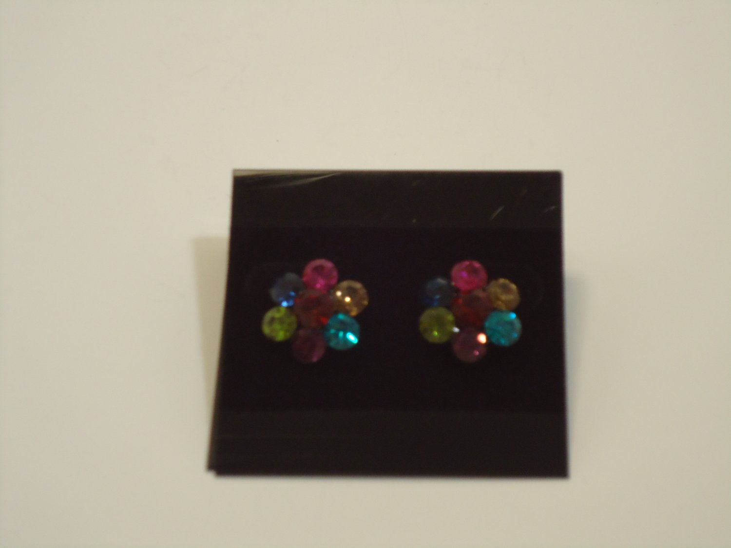 Small Multi Color Crystal Earrings