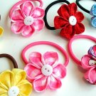 Kanzashi Blooms  (Your choice of various colors) pair (please specify desired color)
