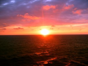 Sunset at Sea Framed Photograph