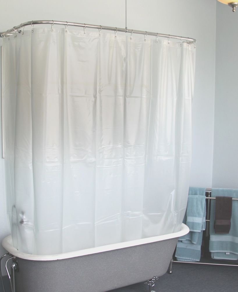 Clawfoot Shower Curtain Extra Wide Opaque W Magnets