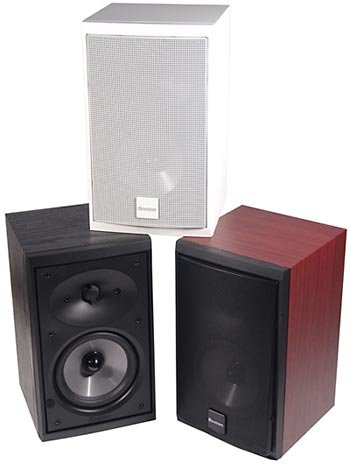 "Rs 15750 Awarded Boston Acoustics CR77 6.5"" 100 RMS@8 Ohm w/Heat Sink Metal Grill Bookshelf Speakers"