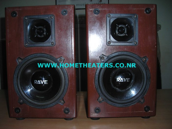 Rs 1000 Rave Acoustics Rosewood Bookshelf Speaker(Old Unsold Stock Clearance Sale)