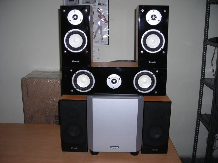 Rs 4000 Esota Black Center Speaker(Clearance Sale)