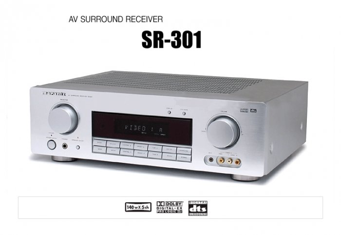 Rs 13500 Used Marantz SR301 140 RMS@6 Ohms X 5 5.1 AV Receiver