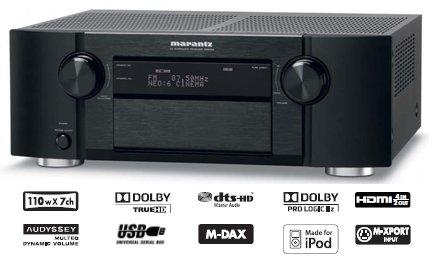 Rs 70125 Marantz SR6004 True HD/DTS HD USB 1080p Upscaling Bluetooth 110 RMS X 7 7.1 AV Receiver