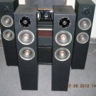 "Rs 7000 1"" Tweeter 6"" Woofer x 2 2 Way 120 Watts RMS Tower Speaker"