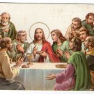 VINTAGE Easter Jesus Christ Last Dinner Greetings Postcard
