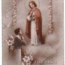 ANGELIC Jesus Christ Child Comunion Argentina Holy Card
