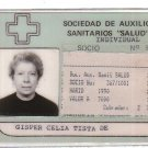 Argentina Medical Society ID Card w PHOTO