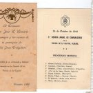 Argentina Police Comradeship Dinner & Concert National Anthem  WW2 Menu LOT OF 2