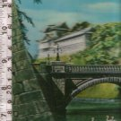 Japan  Double Bridge to Emperor s Palace Holographic Postcard RARITY