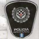 Argentina Metropolitan Police Officer Shoulder Patch