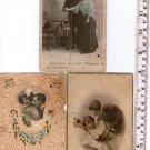Woman Man People Couple Love  Photo Greeting Postcard LOT OF 3