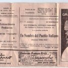Argentina Ugo Tognazzi Vittorio Gassman Movie Program