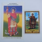 Argentina St Expeditus Expedito Expedite Holy Card  2 CARDS  VINTAGE