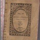Amore Orgoglio Love Pride Italy 1873 Theater Script