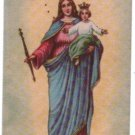 Virgin Mary Helping Jesus Christ Marian Holy Card