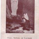VINTAGE Virgin Mary Lourdes Argentina Holy Card