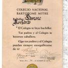 Argentina 1956 Mitre School Promotion Document Award